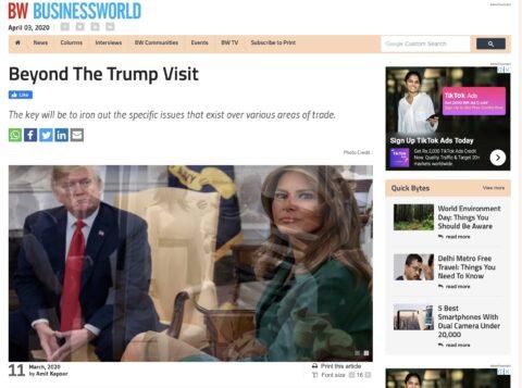 Beyond the Trump Visit