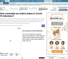 How Vulnerable are Indian States to COVID-19 infections?