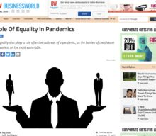 Role of Equality in Pandemics