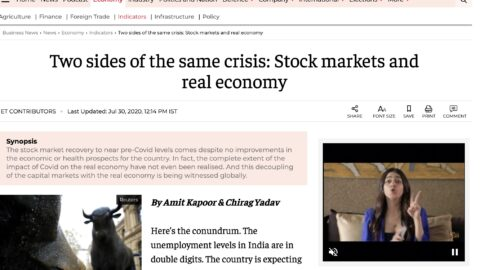 Two Sides of the Same Crisis: Stock Markets and Real Economy