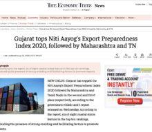 Gujarat tops Niti Aayog's Export Preparedness Index 2020, followed by Maharashtra and TN