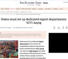 States must set up dedicated export departments: NITI Aayog