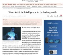 Artificial Intelligence for Inclusive Growth