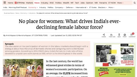 No Place for Women: What Drives India's Ever-Declining Female Labour Force?